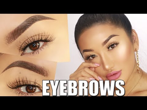 EYEBROWS ON FLEEK! HAIRSTROKE BROWS. Updated brow routine!