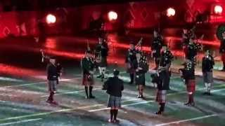 Ireland Massed Pipes and Drums performs at Spasskaya Tower 2015 Moscow International Music Festival