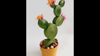 3D Paper quilling Cactus