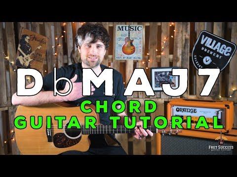 db major 7 chord guitar tutorial - fret success guitar lesson
