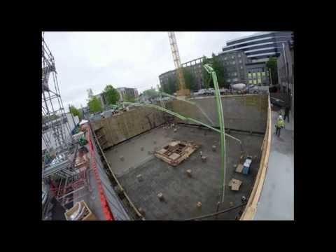 Kinects Tower (Seattle) Mat Foundation Time Lapse