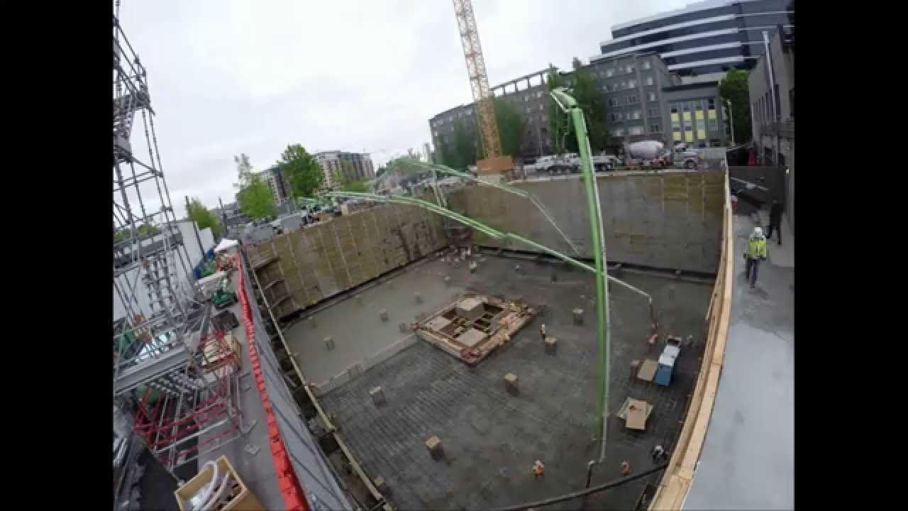 Kinects Tower Seattle Mat Foundation Time Lapse Youtube