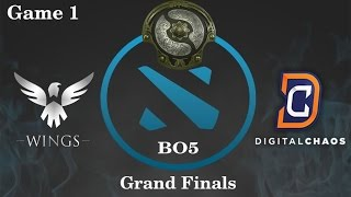 DC vs Wings Highlights Game 1, TI 6 Grand Finals