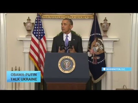Obama-Putin Talk Ukraine: Russian-backed separatist forces need end ceasefire violations in Ukraine