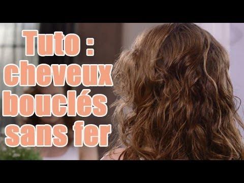 Astuce coiffure   Comment réaliser des boucles sans fer à friser  - YouTube c0f58263371