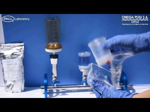Control de calidad microbiológico Embudos de filtración MicroFunnel Envase con empaque fácil