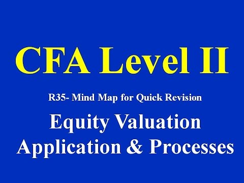 CFA Level II- R35- Mind Map for Quick Revision- Equity Valuation:Application & Processes