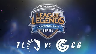 TL vs. CG - Week 2 Day 2 | NA LCS Spring Split | Team Liquid vs. Clutch Gaming(2018)