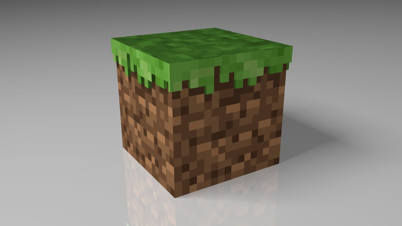 Enhanced Minecraft Grass Block - Includes Model Download - YouTube