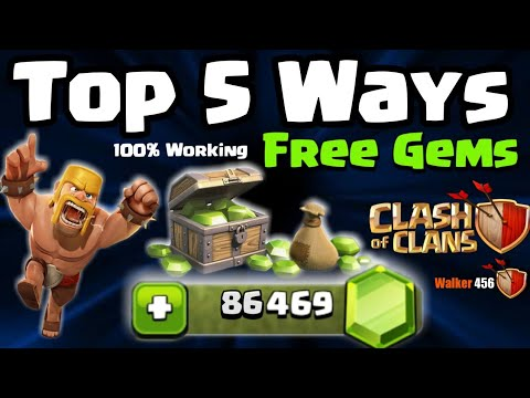 Coc | How To Get Free Gems In Clash Of Clans | Hindi | Walker 456 | Clash Of Clans
