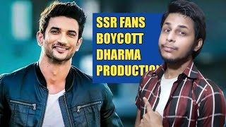 Sushant Singh Rajput Fans Boycott Dharma Production for Chamchagiri | Bollywood Controversy News