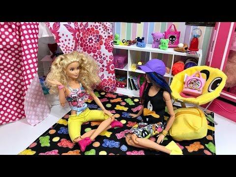 Barbie Sleepover Skipper and friend!! Truth or Dare!! Pool!