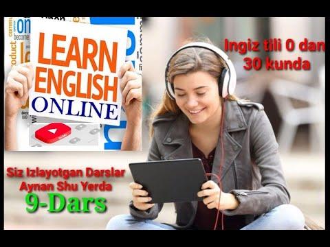Ingliz tili 30 kunda 9-Dars #ingliz#tili#grammatika#IELTS#Speaking
