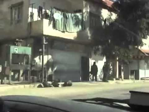 Syrien # Al-Zabadani (Vorort von Damaskus) # Generalstreik 01.12.2011
