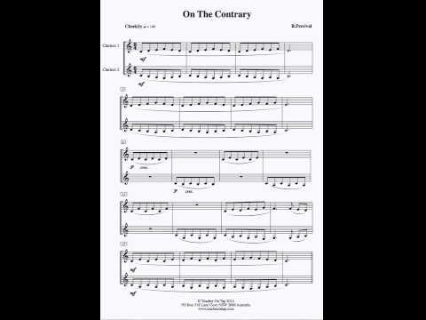 "Clarinet Duet - "" On the Contrary """