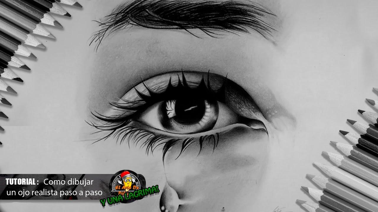 Como dibujar un ojo realista y pestaas paso a paso bien explicado