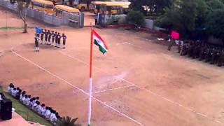 august 15 2013 march past in Geetha school Toopran