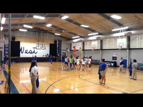 West Thibodaux Middle school Cheerleaders