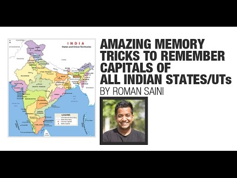 Memory Tricks to Remember Capitals of Indian States/UTs (IAS/UPSC, SSC CGL, RRB, Bank PO)