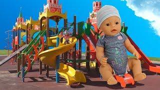 Беби Бон кукла Настя весело играет на детской площадке Видео для девочек Funny outdoor playground