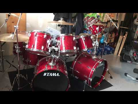 1982 vintage  tama superstar cherry wine drums