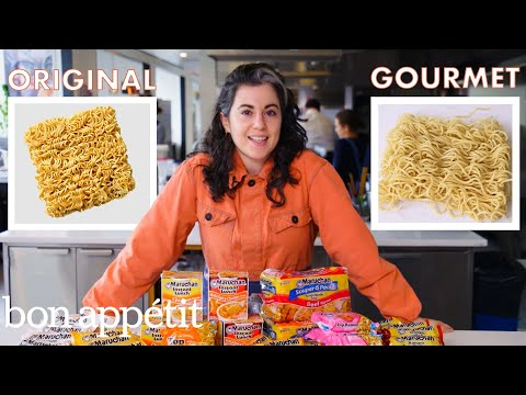 Pastry Chef Attempts to Make Gourmet Instant Ramen | Gourmet Makes | Bon Apptit