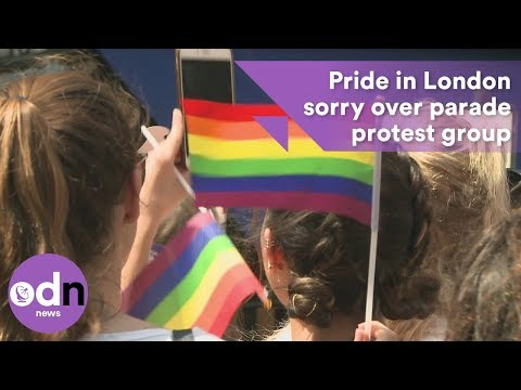 Pride in London apologises over parade protest group