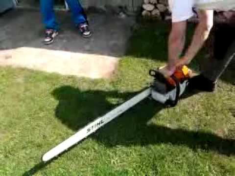 stihl ms 880 mit 1 meter schwert youtube. Black Bedroom Furniture Sets. Home Design Ideas