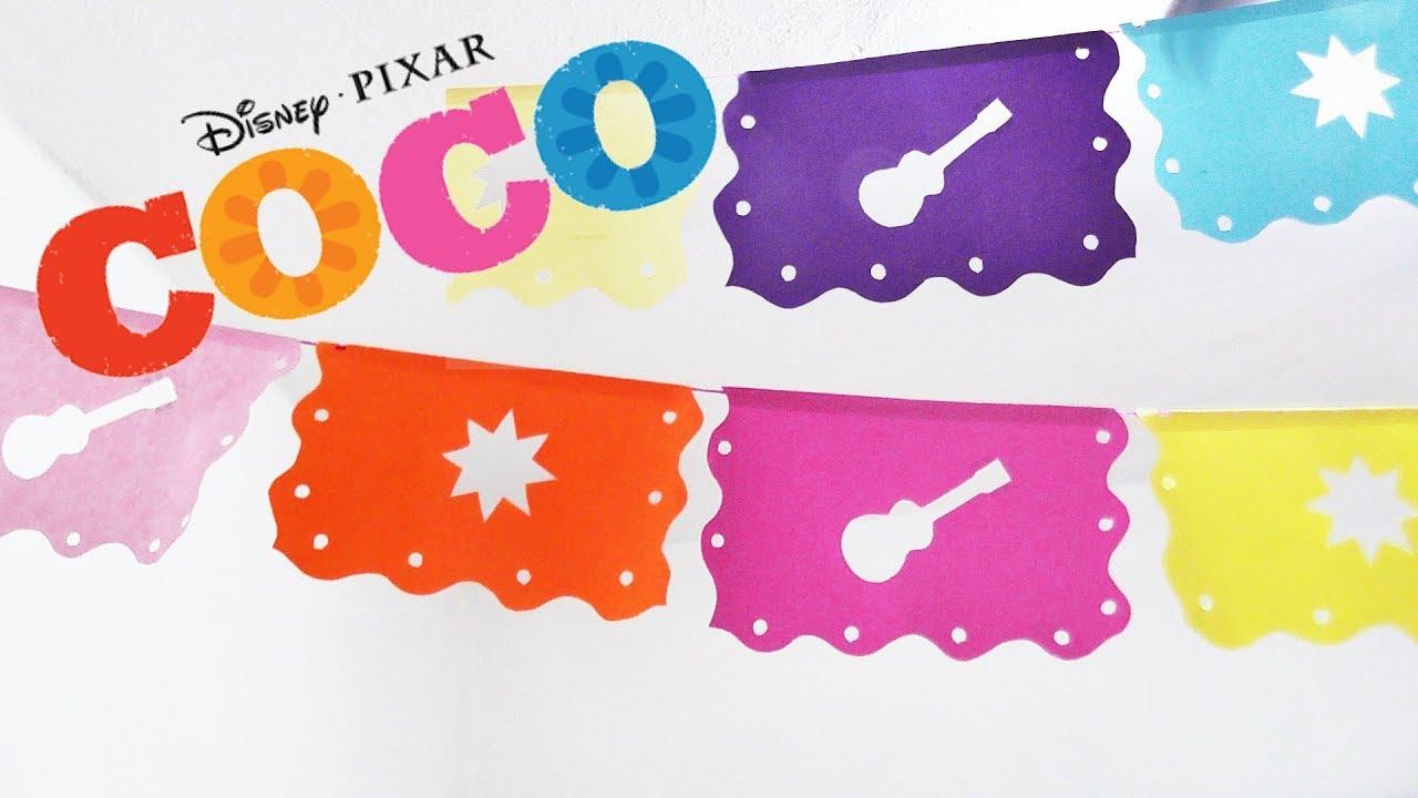 Como Hacer Papel Picado En 5 Minutos Dia De Muertos Coco Disney