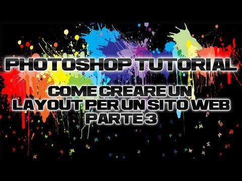 Photoshop tutorial creare layout sitoweb parte 3