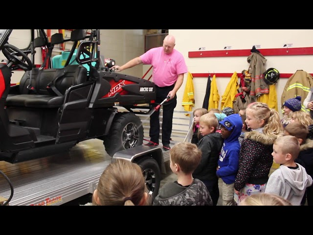 Kindergartners tour the TRF Fire Hall