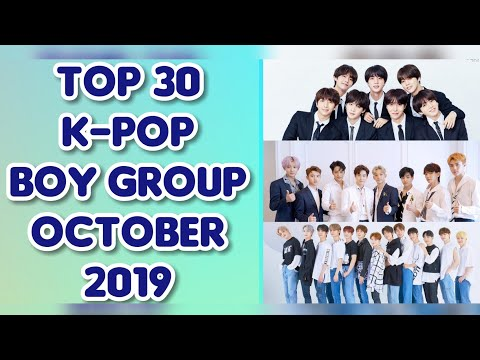 Top 30 K-Pop Boy Group Brand Reputation Rankings for October 2019