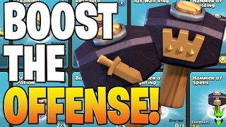 THESE MAGIC HAMMERS BOOST UP OFFENSE SO FAST!- Clash of Clans