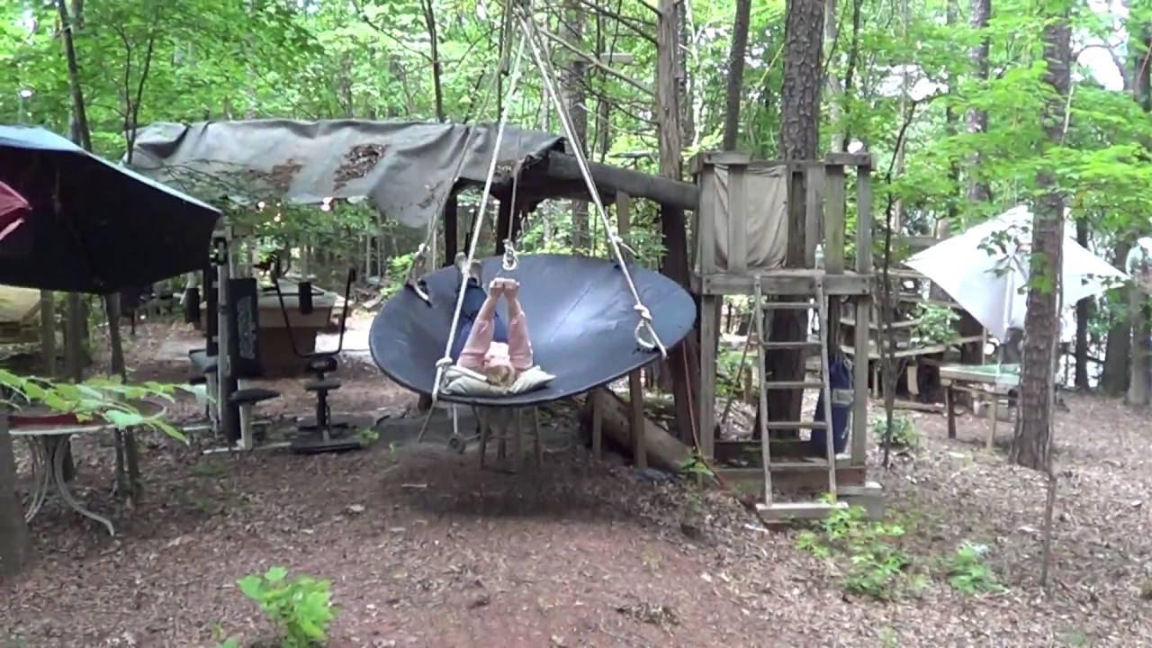 unusual backyard round swing youtube