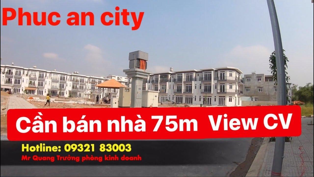 Khu đô thị Phúc an city Nhà bán 75m2 1 trệt 2 lầu
