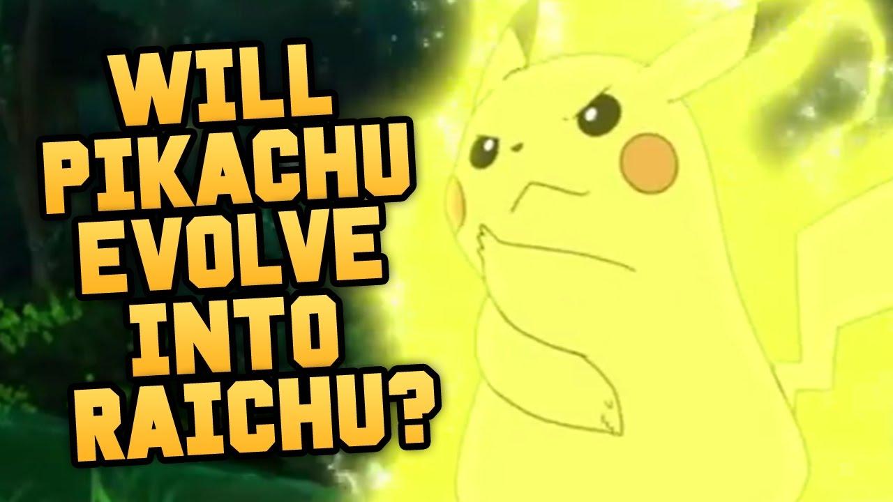Pokemon pikachu evolves into raichu in pokemon sun and moon youtube