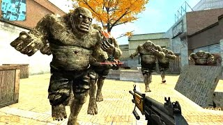 Counter Strike Source Zombie Horde Mod Zombie Horror Boss fight Online Gameplay on Escape 2 map