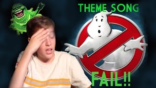 ghostbusters theme song fail