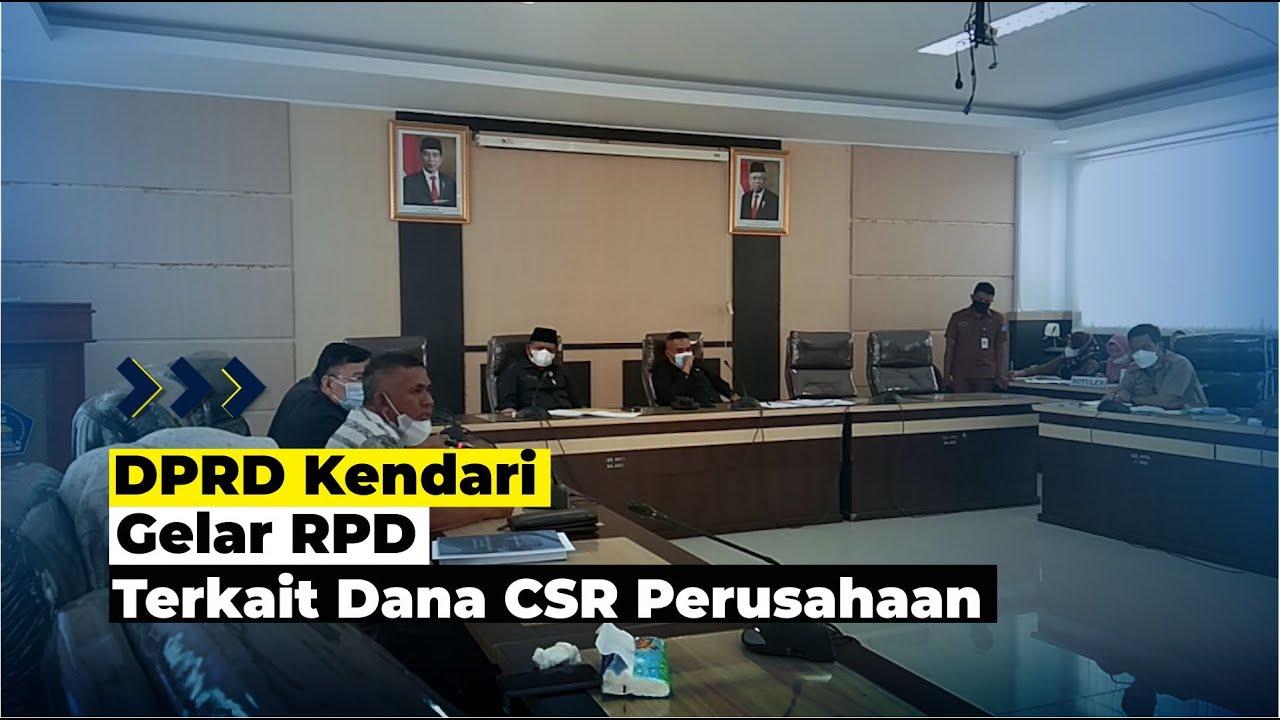 DPRD Kendari Gelar RDP Terkait Dana CSR Perusahaan