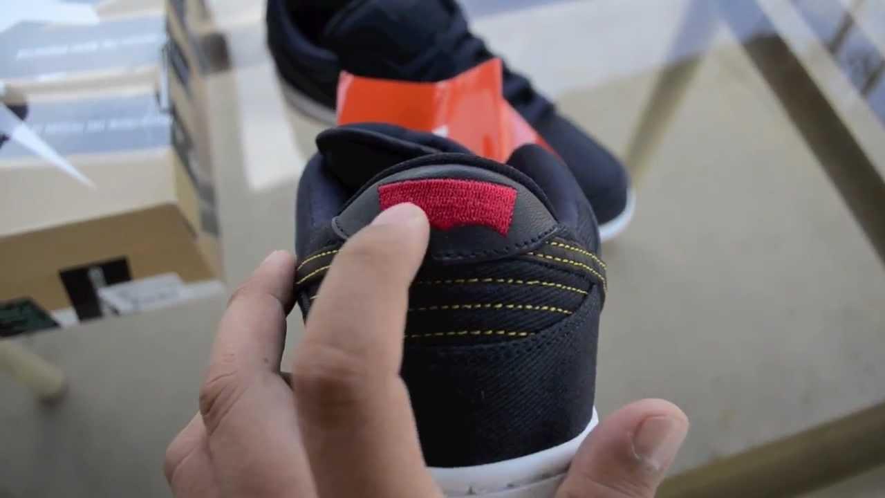 905125a0939408 Nike Sb Levi Dunks Blue Denim Hyper strike 1 of 350 pairs Levi Magazine  Review Pick Up Unboxing