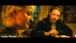 3:10 to Yuma: Russell Crowe (as Ben Wade) romantic scenes + great gun shots