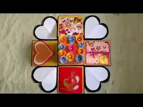 Birthday Explosion Box card/Beautiful Birthday Explosion Box for friend/How to make Explosion Box