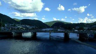 【JR奈良線】夏空の宇治川を車窓から見る