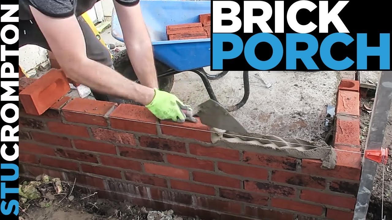 How To Build A Brick Porch Bricklaying Tutorial Stu