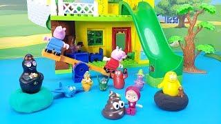 I BARBAPAPA SI NASCONDONO DENTRO IL PONGO - Magic Clay , sorprese e giocattoli con Peppa  e Masha