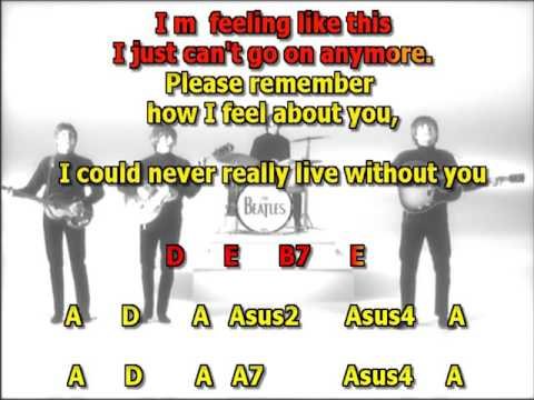 I need you Beatles best karaoke instrumental lyrics chords
