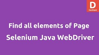 Find all elements of Web Page Selenium Java