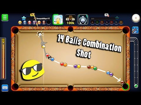 Thumbnail: 8 Ball Pool 14 Balls Combination Shot -Featuring Level 510 -Queen Len 838 Billion Coins -Trickshots-