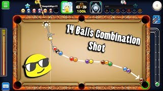 8 Ball Pool 14 Balls Combination Shot -Featuring Level 510 -Queen Len 838 Billion Coins -Trickshots-