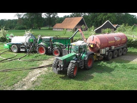 Drag hose manure injection with Fendt